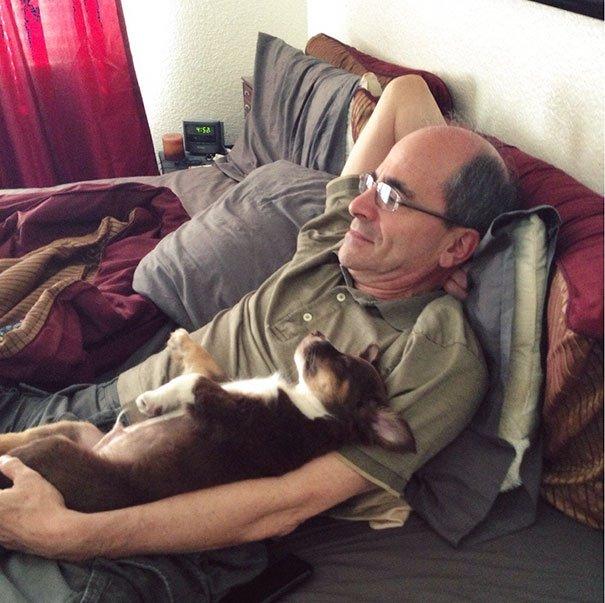 papà inseparabili dai loro cani12