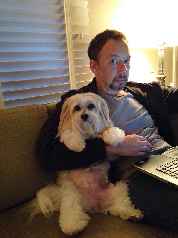 papà inseparabili dai loro cani14