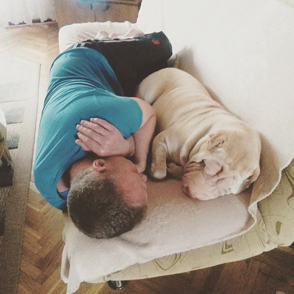 papà inseparabili dai loro cani6