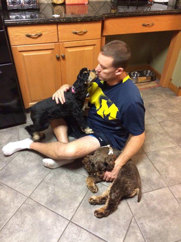 papà inseparabili dai loro cani9