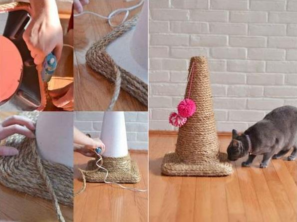 giochi fai da te per cani e gatti 13 idee che divertiranno il vostro animale. Black Bedroom Furniture Sets. Home Design Ideas