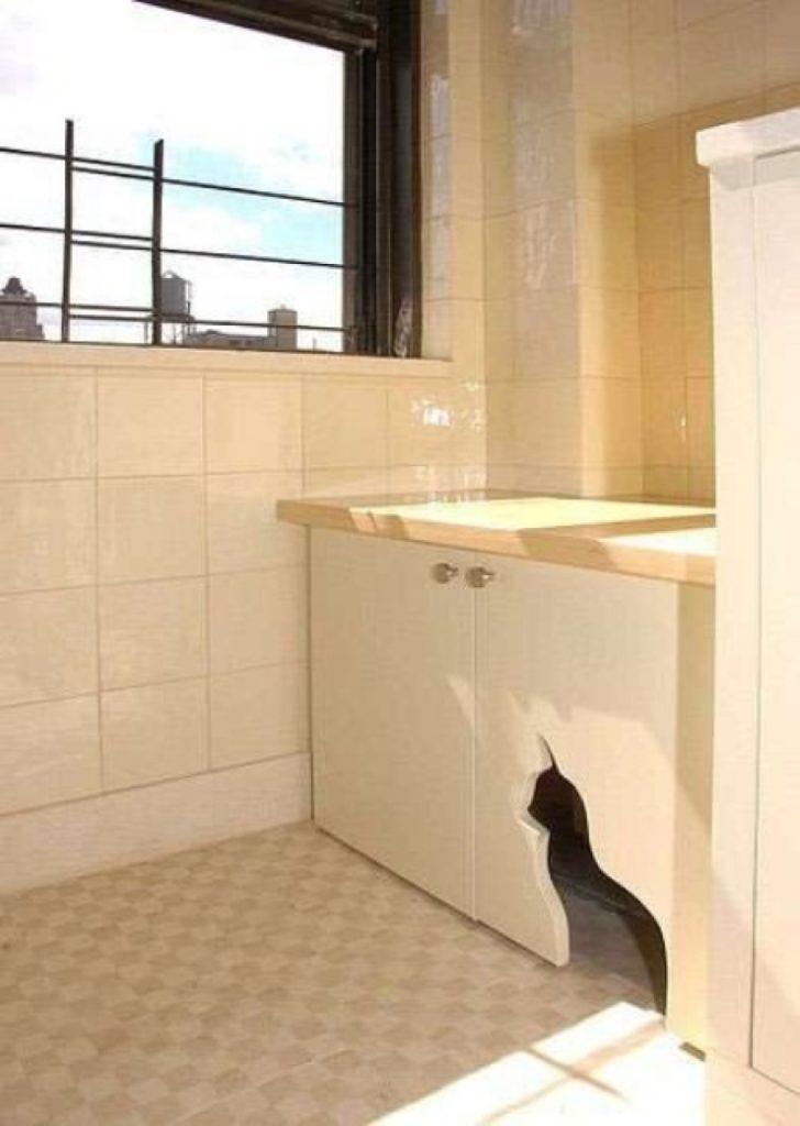 soluzioni per nascondere la lettiera del gatto12
