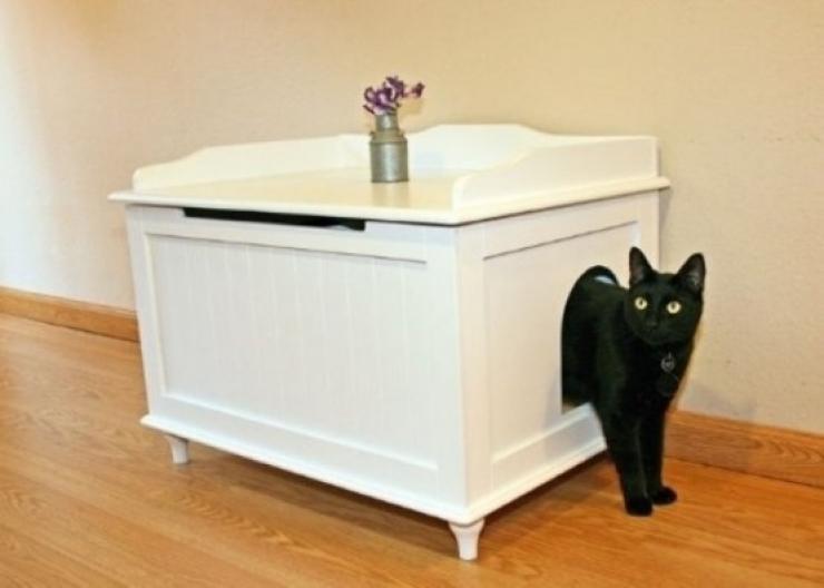 soluzioni per nascondere la lettiera del gatto15