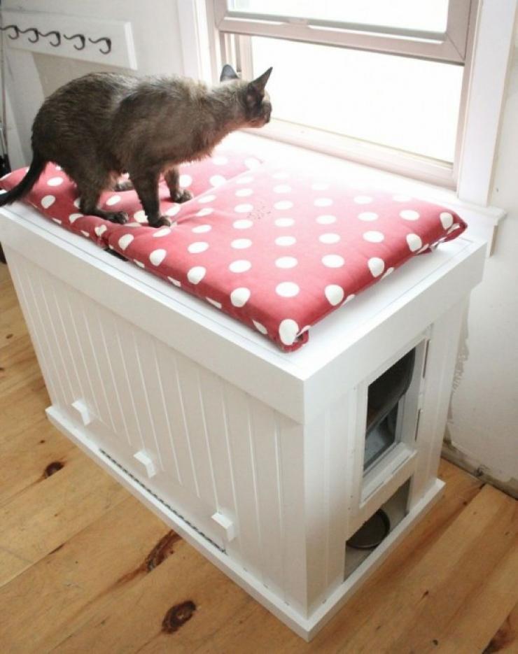 soluzioni per nascondere la lettiera del gatto16