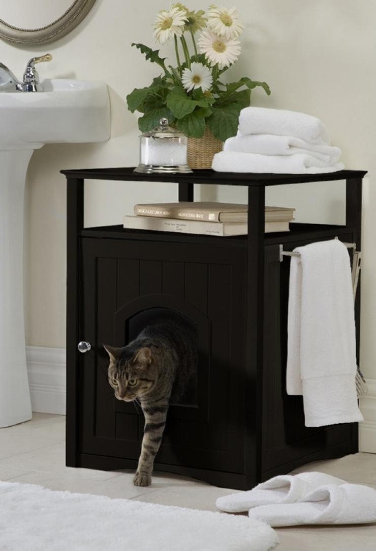 soluzioni per nascondere la lettiera del gatto18