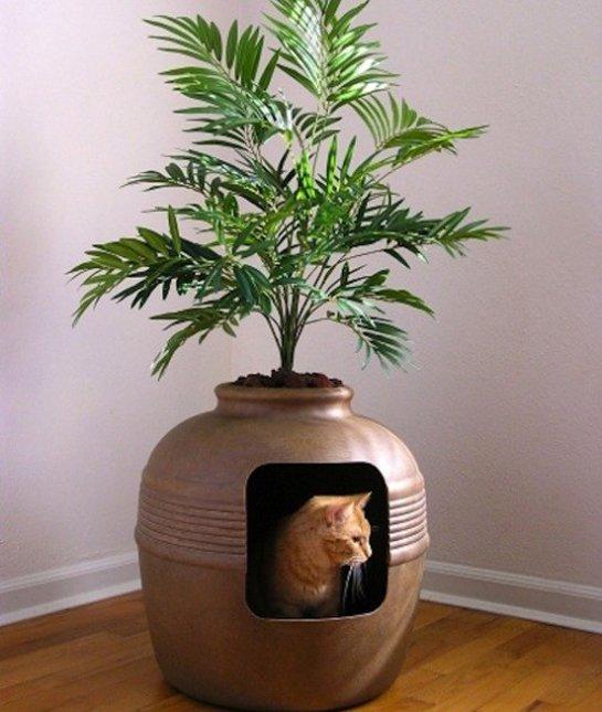 soluzioni per nascondere la lettiera del gatto22
